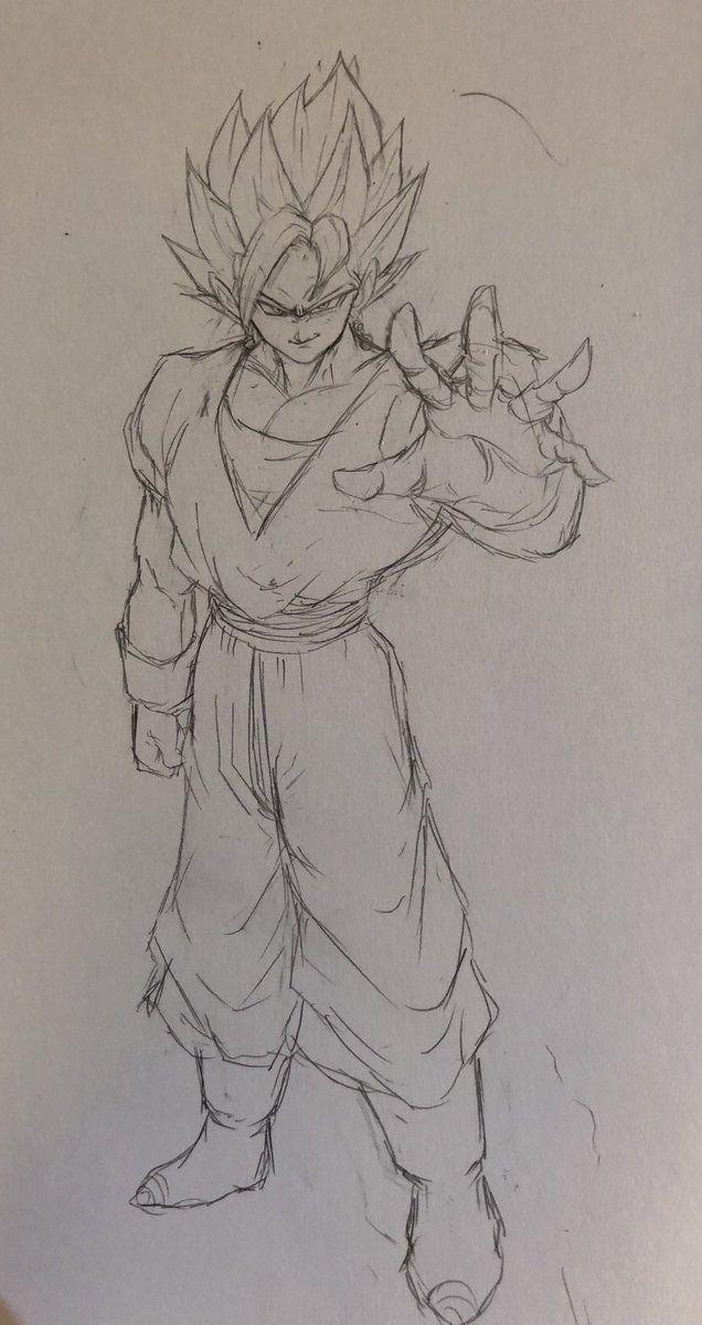 Vegetto Blue Dibujos Dibujo De Goku Y Arte De Dragón