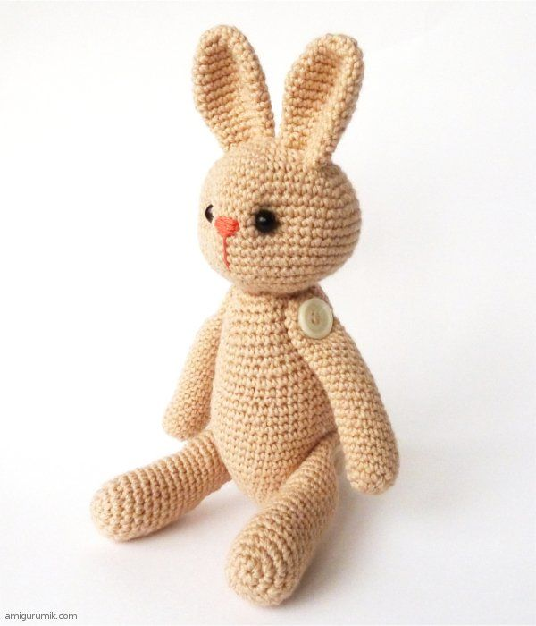 Amigurumi Rabbit Tutorial : Amigurumi bunny free crochet pattern and tutorial