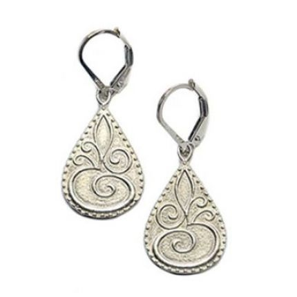 OM Charm Earrings in Sterling Silver