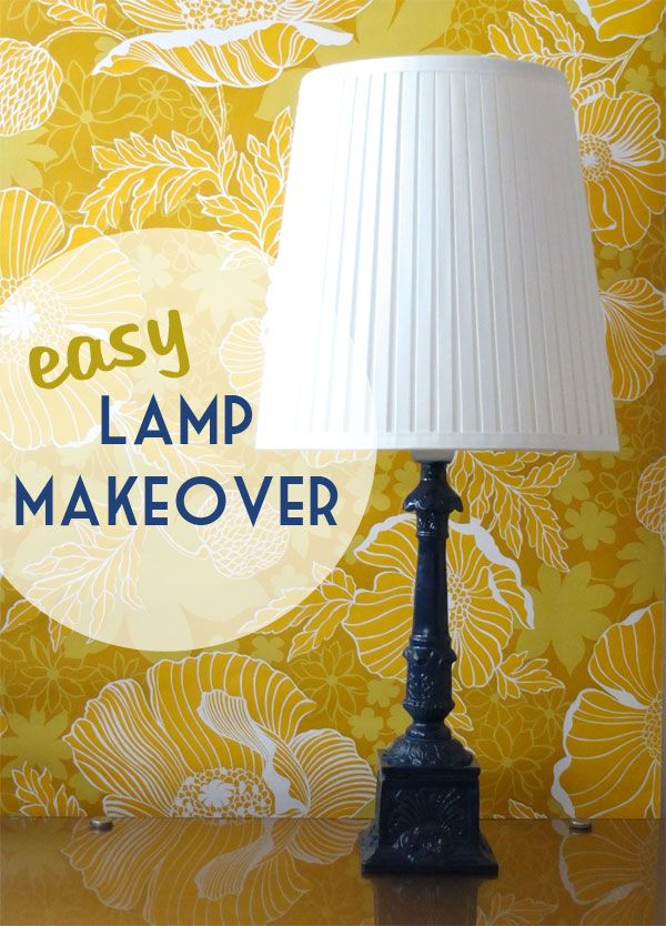 Easy Lamp Makover & Spray Painting tips  - My Poppet