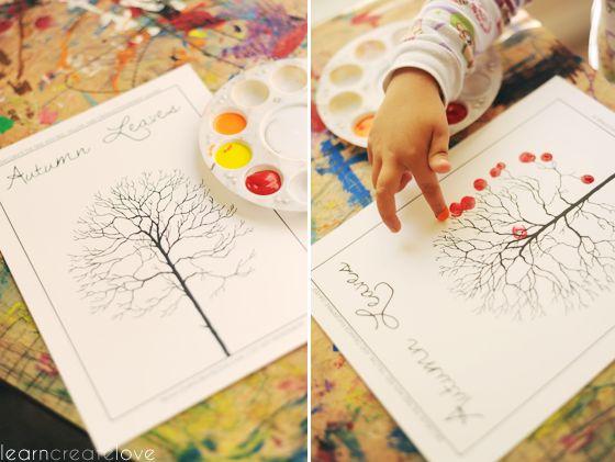 Autumn Leaves / Fingerprint Tree