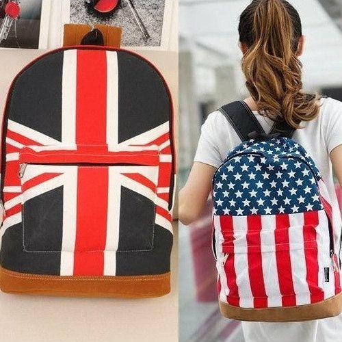 Рюкзак Британский и Американский флаг