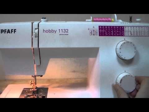 ▶ PFAFF hobby 1132 Nähmaschine deutsch - YouTube
