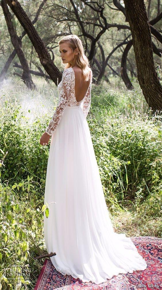 Vestido de noiva boho  em corte evasé