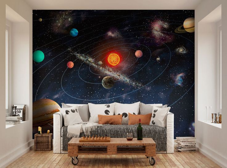 ohpopsi Planets Of The Solar System Space Wall Mural