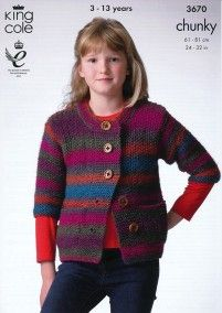 Bolero and Jacket in King Cole Riot Chunky (3670)