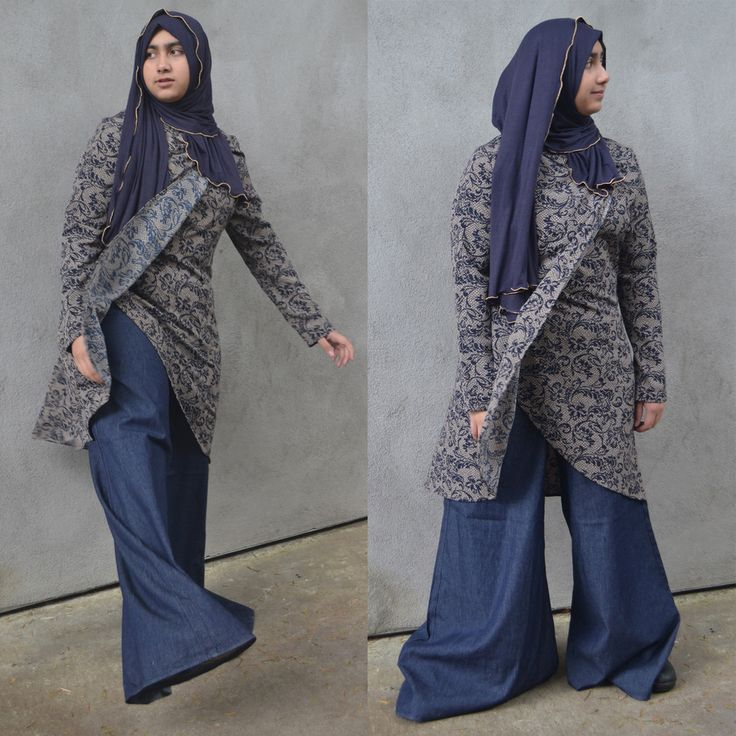"""Hayaa Clothing - BLUE Denim Jeans Extreme Wide Leg Palazzo Pants 44"""" Wide, $38.00 (http://www.hayaaclothing.com/blue-denim-jeans-extreme-wide-leg-palazzo-pants-44-wide/)"""