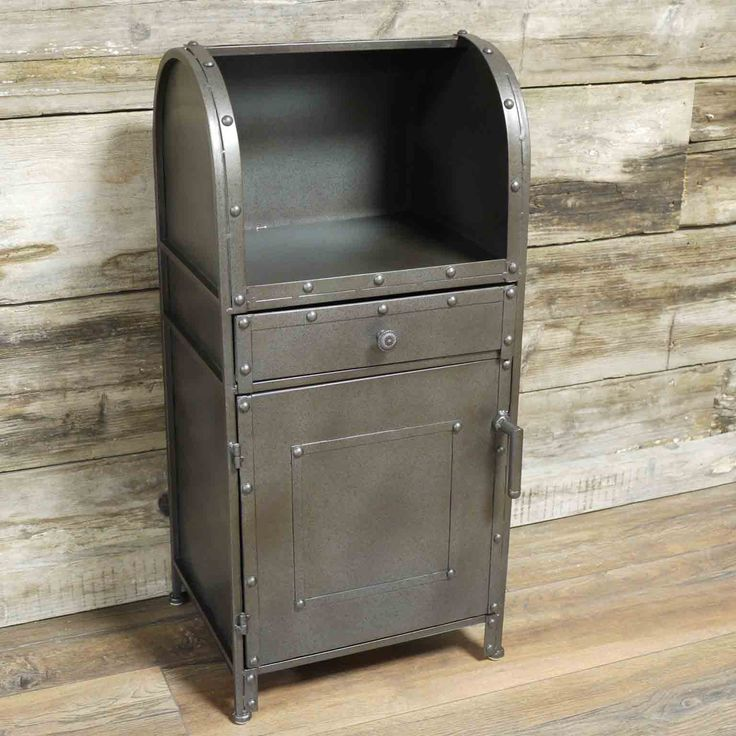 Emilia industrial mailbox style bedside cabinet £56.00