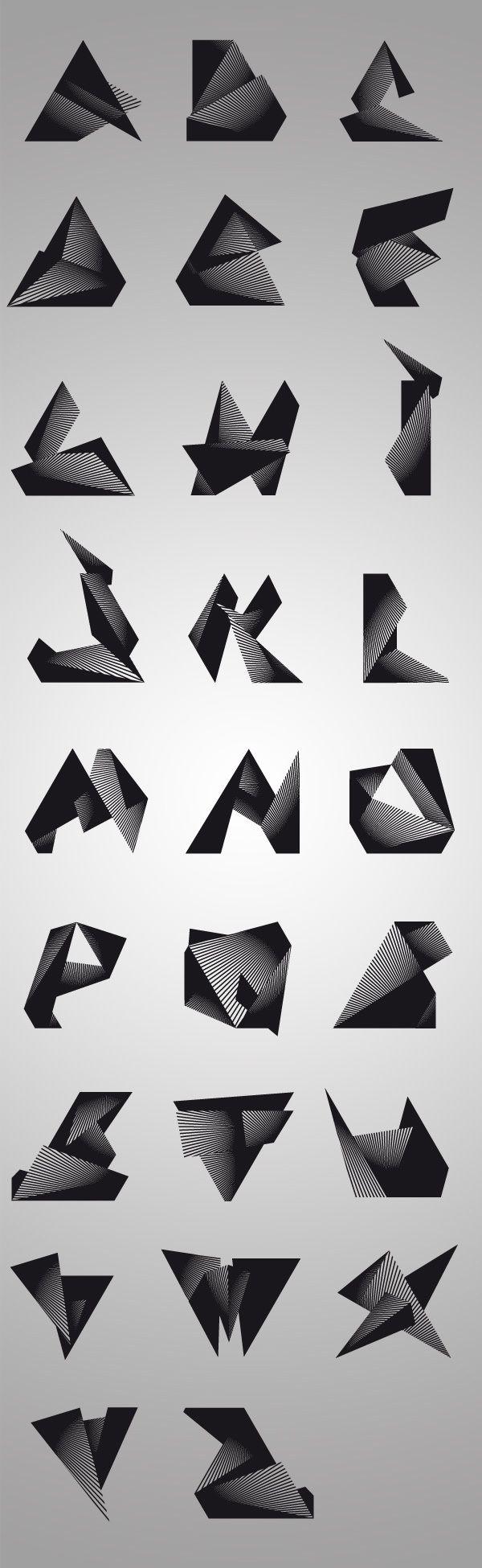 Trisec experimental typefaces