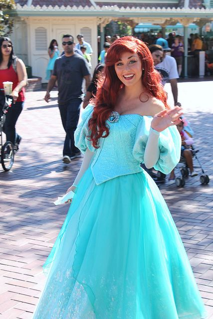 Ariel  I do love how much her outfit makes her stick out in a crowd