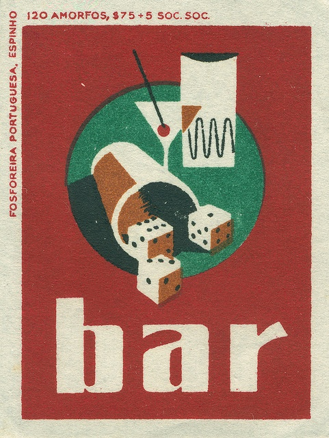 Portuguese matchbox label