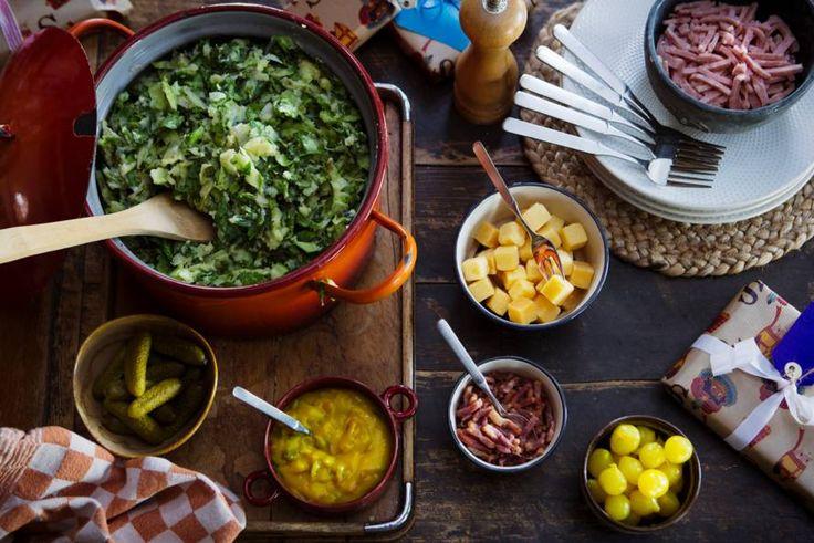 Of je nou een etentje voor de hele familie geeft of op dinsdagavond iets lekkers op tafel wil zetten: met stamppot scoor je altijd. - recept - Allerhande