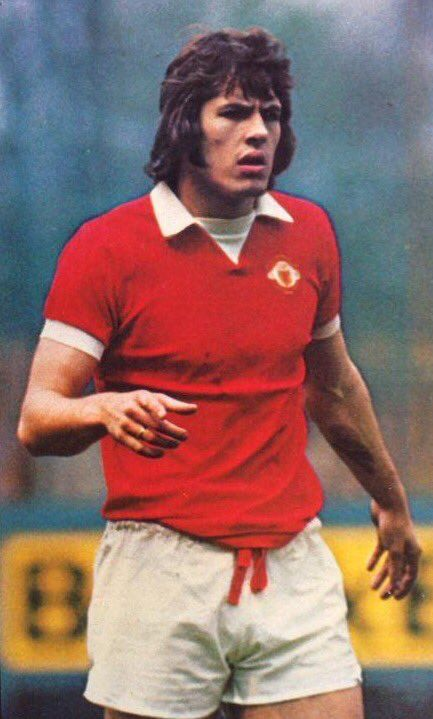Jim Holton of Man Utd in 1973.