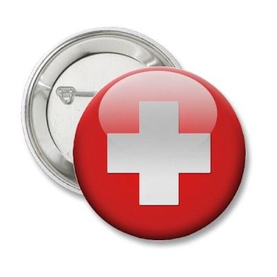 Drapeau suisse pin's Zazzle.www.zazzle.fr