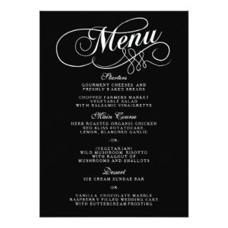 blank fancy menu template google search halloween pinterest black wedding and paper. Black Bedroom Furniture Sets. Home Design Ideas