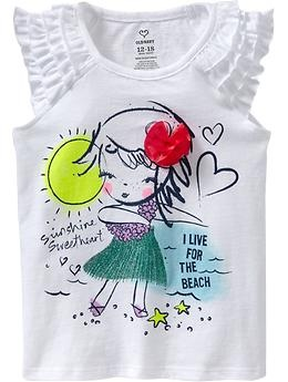 Ruffle-Sleeve Applique-Graphic Tees for Baby | Old Navy