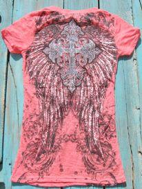 Angel Wing Cross Shirt $17.99