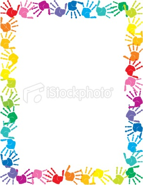 baby handprints free clip art   Baby Handprints Border