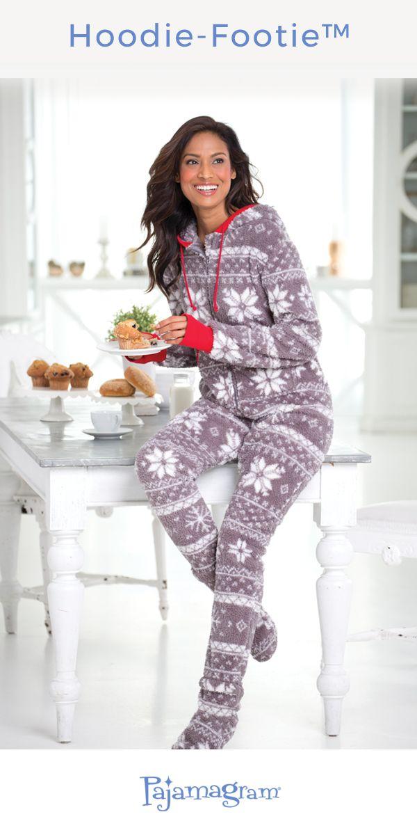 It's like a hug she can wear. Combines her favorite things: favorite slippers, cozy blanket, warmest hoodie.