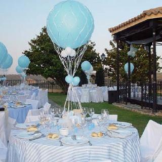 Decoración de mesas bautizo: Ideas Para, Centers, Baptism Ideas, Table, Balloon, Party Ideas, Christening, Baby Shower