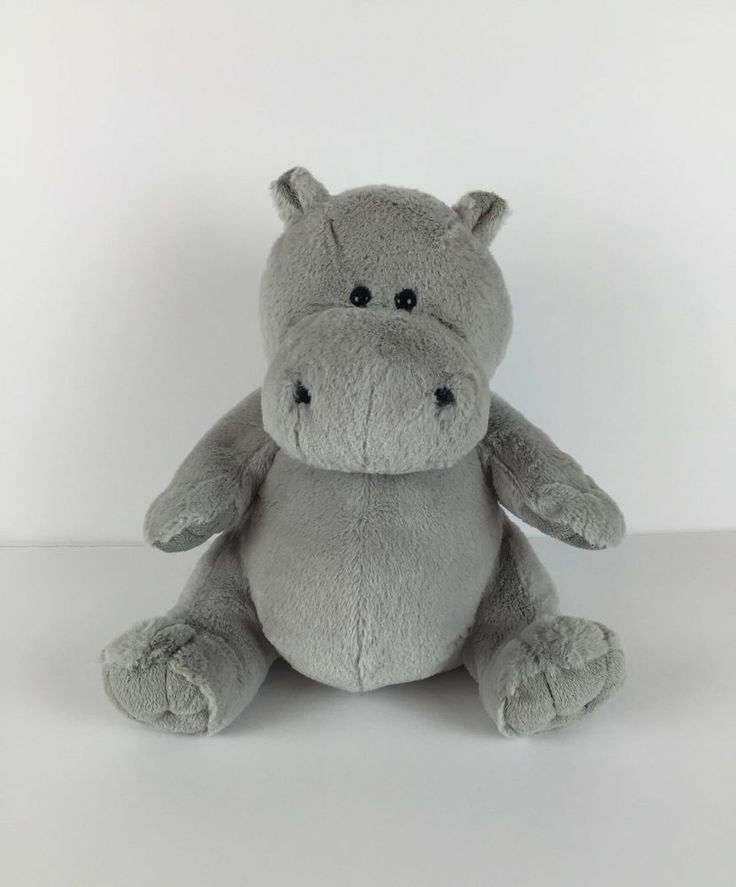 "Kohl's Cares for Kids Plush- Gloria Grey Hippo Curious George Stuffed Animal 10"" #KohlsCaresforKids"