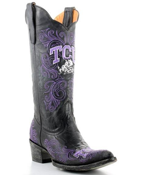 Texas Christian University Gameday Cowboy Boots: Cowgirl Boots, Cowboy Boots, Gameday Cowboy, Fort Worth, Meagan S Schools, Southern Comfort