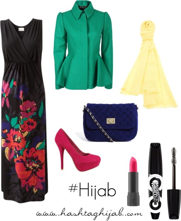 Hashtag Hijab Outfit #2 very cute! I'd wear more of a straight blazer to hide the shape, and I wouldn't wear all that makeup.