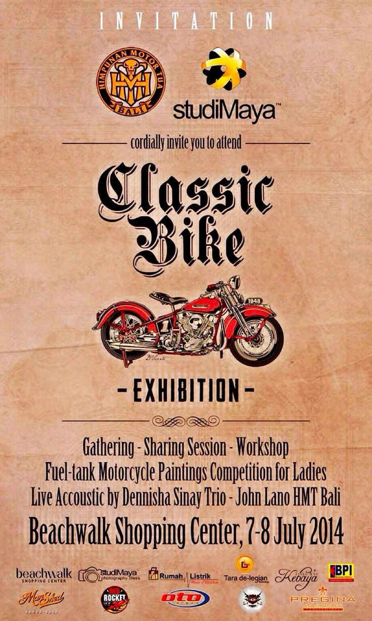 Classic Bike Exhibition at Beach Walk Kuta