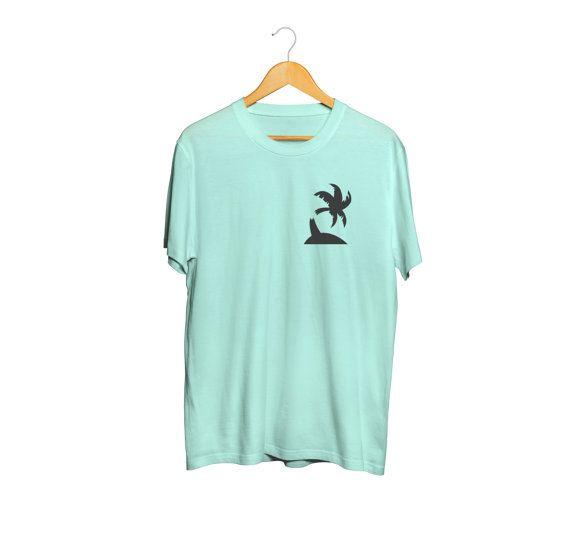Palm tree t-shirt hand printed broken palm tree by yoinkprintshop