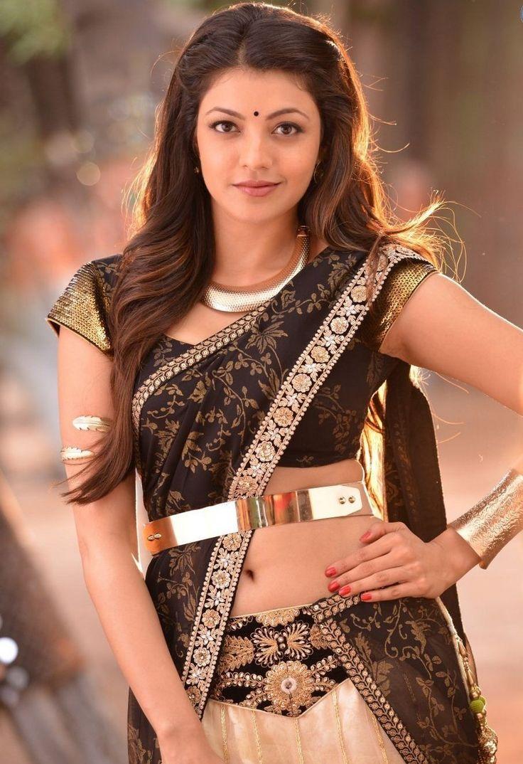Kajal Agarwal Hot in Saree #KajalAgarwal #FoundPix
