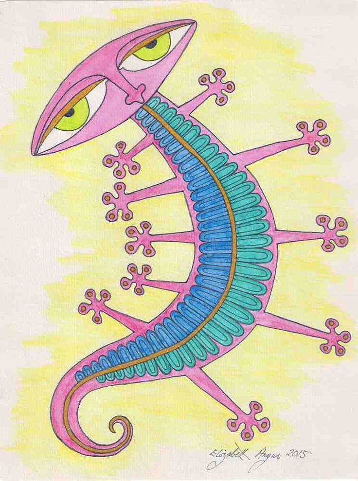 SALE! Gecko wall art, pink gecko art, blue gecko, Watercolor drawing, Original wall art, original drawing, lizard wall art, reptile wall art by ElizabethAngusArt on Etsy