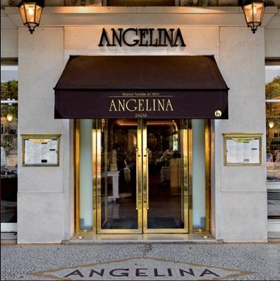 Angelina Cafe in Paris.  Famous for its hot chocolate. 226 Rue de Rivoli, 1e. Metro: Concorde, Lines 1, 8 and 12. head east. (cw3-2)