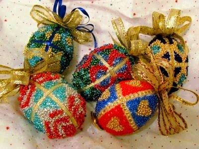 Beaded Faberge Egg Tutorial: Christmas Crafts, Faberge Eggs, Unique Crafts, Eggs Ornaments, Beads Faberge, Seeds Beads, Easter Eggs, Chicken Eggs, Beads Eggs