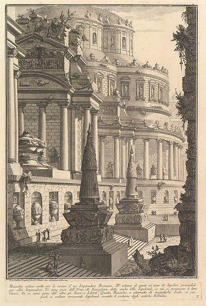 Giovanni Battista Piranesi | Ancient mausoleum erected for the ashes of a Roman Emperor (Mausoleo antico eretto per le ceneri d'un Imperadore Romano) | The Met
