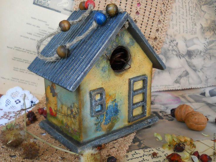 """Купить Скворечник """"Старая-старая сказка"""" (пасхальный подарок) - скворечник, домик, домик для птиц"""