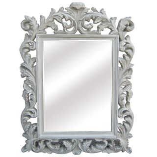 antique white traditional rectangular 32 inch portrait wall mirror overstock shopping great deals on mirrors