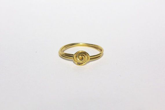 Gold Rose Wire Ring by MeekAndNeek on Etsy