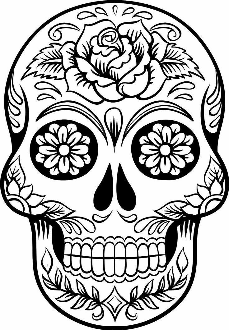 48++ Printable halloween skull coloring pages ideas