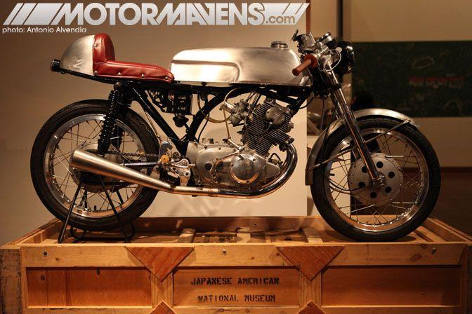 Len Higa's O2 Motorworks Honda CB77 cafe racer.