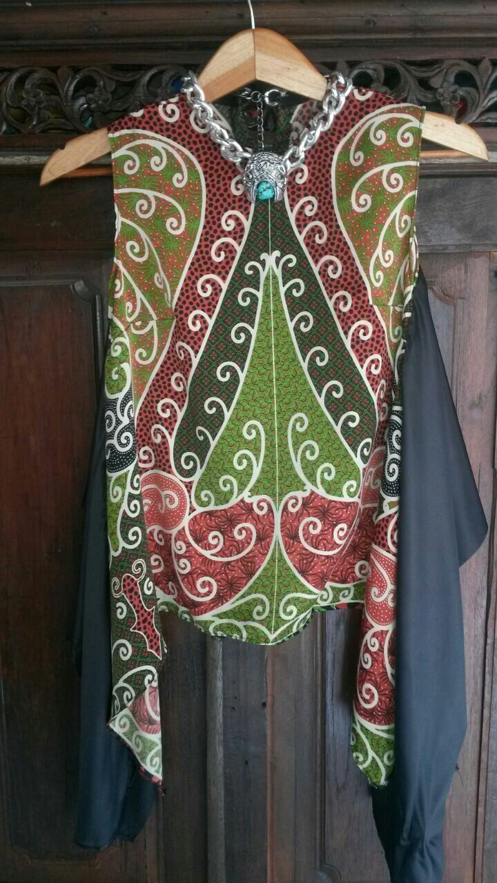 Batik print blouse