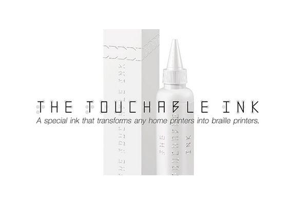The Touchable Ink : une encre qui permet d'imprimer en braille