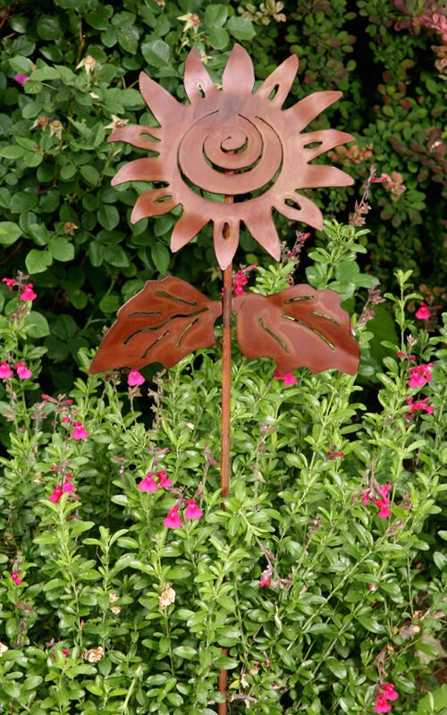 Sunflower Garden Art Plant Stake, Garden Sculpture. $59.00, Via Etsy.