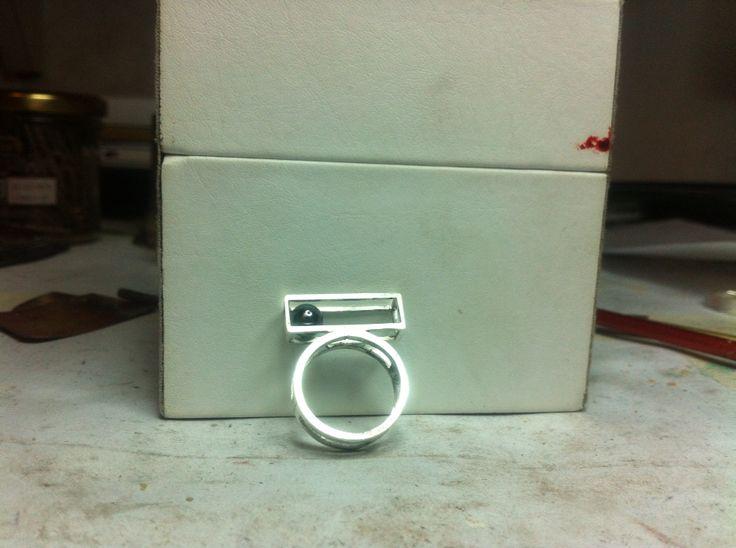 Box,argento,sfera in ematite