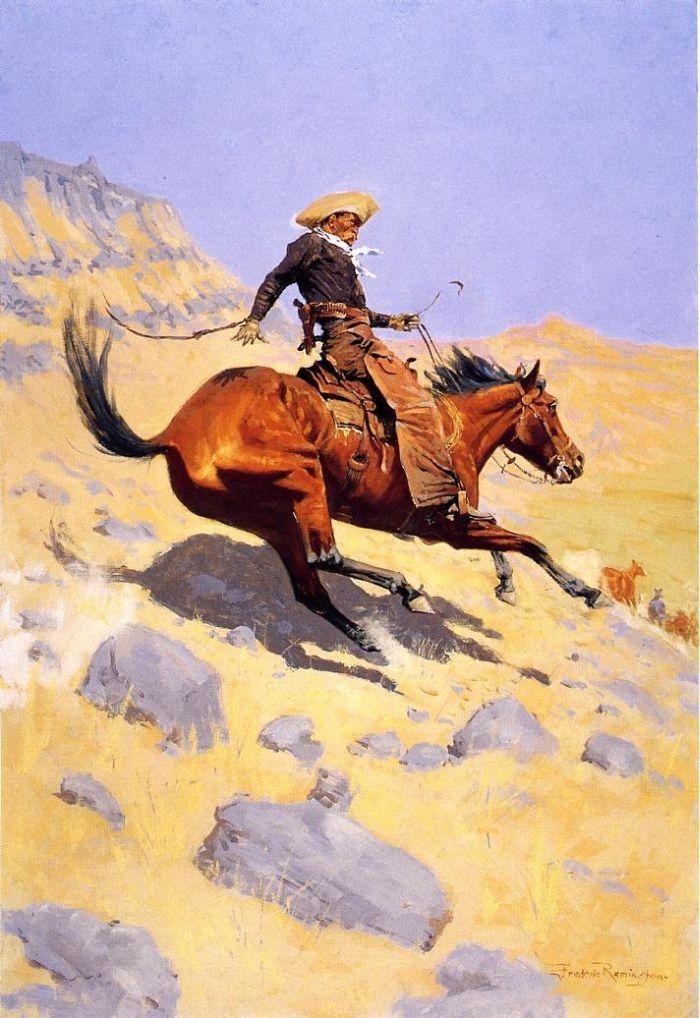 The Cowboy by Frederic Remington #art