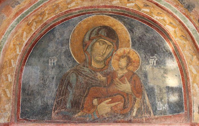 Bulgaria - Monastero di Bachkovo. Affresco della Madre di Dio di Iviron. - Cerca con Google