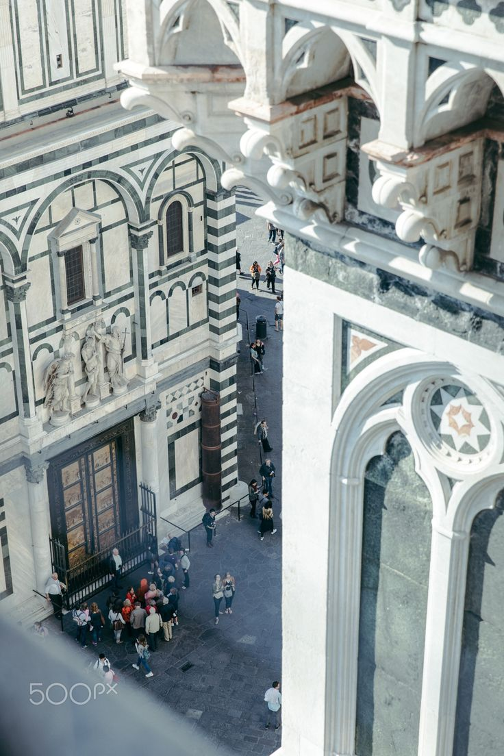 Florence - Piazza del Duomo from the Campanile di Giotto - Piazza del Duomo as seen from the Campanile di Giotto. Florence / Firenze, Tuscany, Italy #tuscany #firenze #duomo