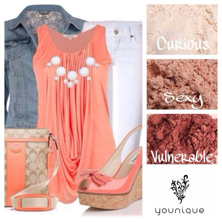 Get the Younique Look - Pulled together outfits complimented by Younique Eye Pigments 1 for $10, 4 for $35 or 8 for $65