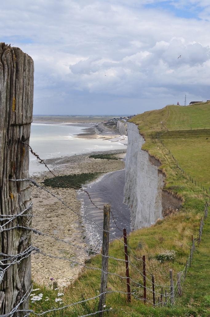 La Baie de Somme et ses falaises.