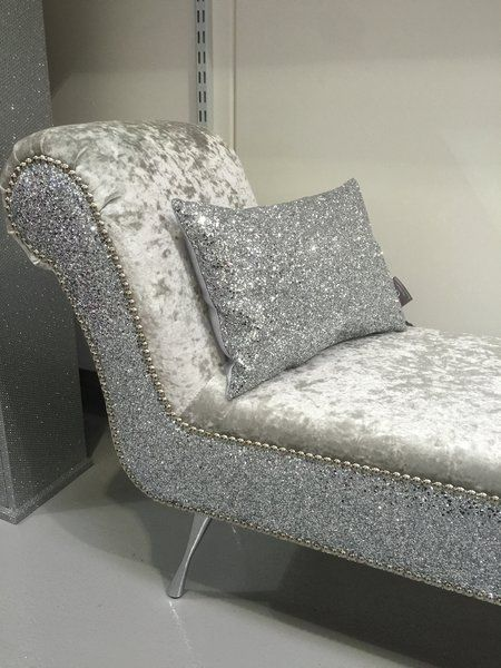 stunning double ended shinny chaise lounge / bedroom seat | The Glitter Furniture Company�