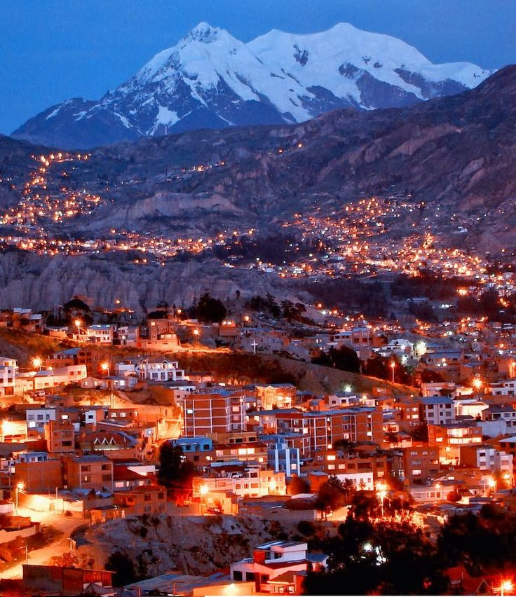 Nuestra Señora de La Paz commonly known as La Paz, is Bolivia's third most-populous city, the seat of the country's government and the capit...